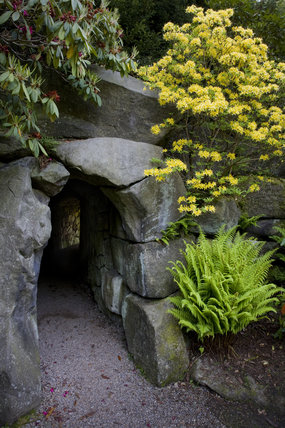 Entrance to the tunnel to the Pinetum at Biddulph Grange Garden, Staffordshire
