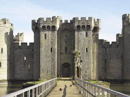 View From The Bridge Towards The Entrance Gatehouse At