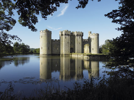 The North Range at Bodiam Castle, East Sussex, built between 1385 and 1388