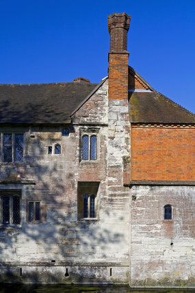 Part of the Family Range, or west side, at Baddesley Clinton, Warwickshire