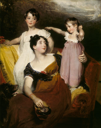 LYDIA, LADY ACLAND WITH HER CHILDREN by Sir Thomas Lawrence Lydia was married to Sir Thomas Dyke Acland