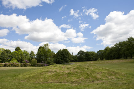The Mound in Green Close with the Long Walk beyond at Gibside, Newcastle upon Tyne