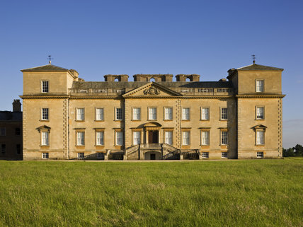 The north front of the house at Croome Park, Croome D'Abitot, Worcestershire