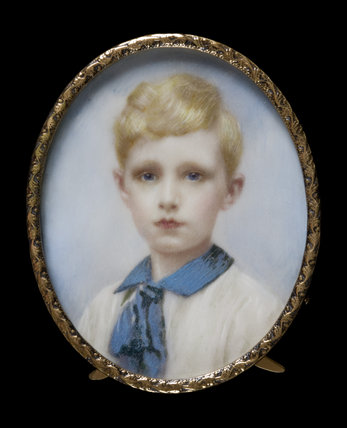 THE HON. ELMAR DIGBY,  an oval miniature, British School, c.1916, at Berrington Hall, Herefordshire. BER/V/30.