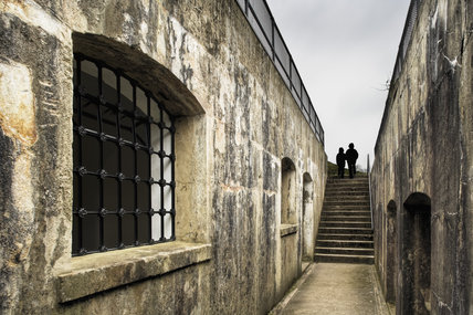 Looking along the casemates at Reigate Fort, Surrey