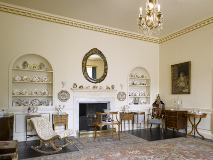 The Morning Room at Greenway, Devon, which was the holiday home of the crime writer Agatha Christie between 1938 and 1976