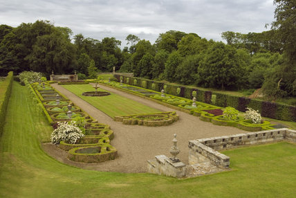 The Parterre Garden at Seaton Delaval Hall, Northumberland, designed in 1947 by James Russell and enhanced by Lady Hastings