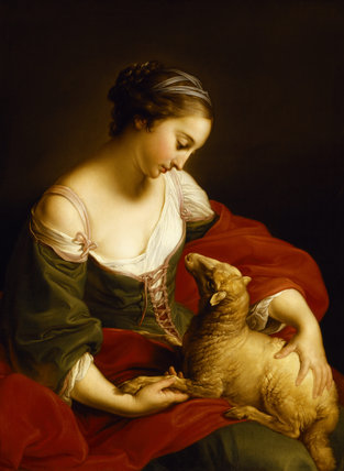MEEKNESS by Pompeo Batoni (1708-87) at Uppark, West Sussex