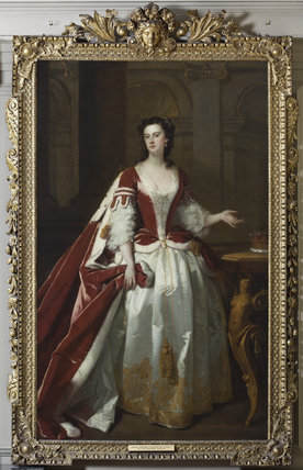 LADY GRACE CARTERET, COUNTESS OF DYSART (1713-55) by John Vanderbank (1694?-1739), painting in the Great Hall at Ham House, Richmond-upon-Thames