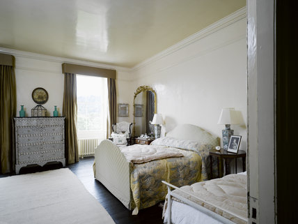 Agatha Christie's Bedroom at Greenway, Devon, which was the holiday home of the crime writer Agatha Christie between 1938 and 1976