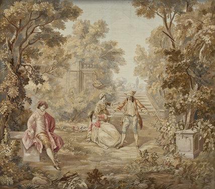 Early Twentieth Century Aubusson Felletin Tapestry Based