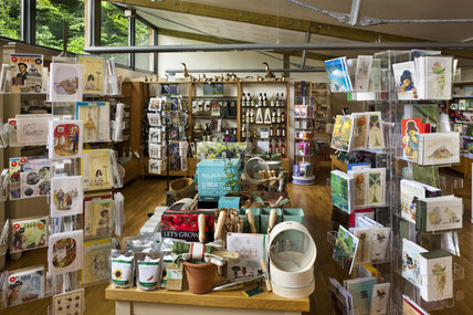 The National Trust shop in the Ashbank Centre at Sizergh Castle, near Kendal, Cumbria
