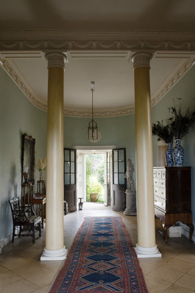 The Entrance Hall at Newark Park, Gloucestershire