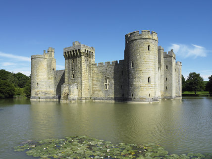 The South Range of Bodiam Castle, East Sussex, built between 1385 and 1388