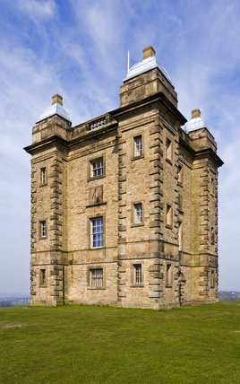 The Cage, an Elizabethan hunting tower modified by the architect Giacomo Leoni in the eighteenth century, in the medieval deer park at Lyme Park, Cheshire
