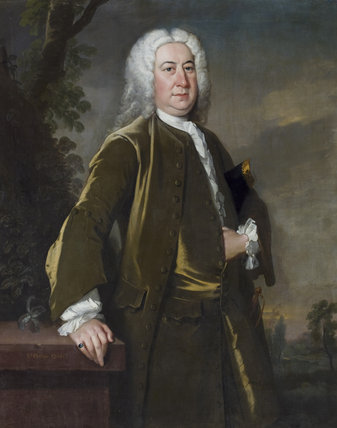 SIR EDWARD PHELIPS IV, 1678-1734, attributed to Bartholomew Dandridge, 1731, in the Great Hall at Montacute House, Somerset
