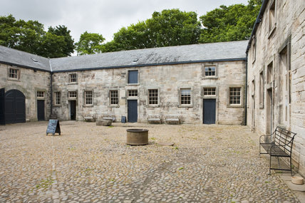The Stables and courtyard completed in 1760, part of the estate at Gibside, Newcastle upon Tyne