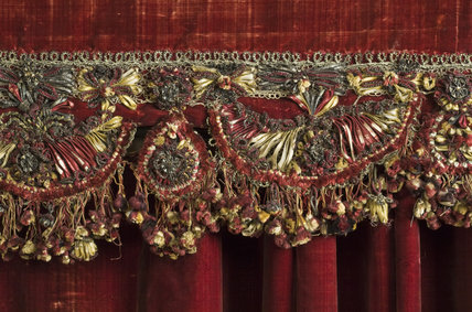 Detail of the State Bed in the Queen Anne Room at Dunham Massey, Cheshire