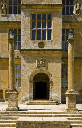 The central frontispiece of the east front of Montacute House, Somerset