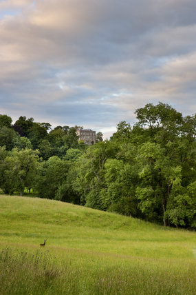 Newark Park, Gloucestershire, perched high on a spur of the Cotswolds, overlooking the valley of the river Severn. Originally an Elizabethan hunting lodge built by Sir Nicholas Poyntz in c.1550, alterations were made in