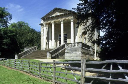 The Queen's Temple by James Gibbs c.1742 at Stowe Landscape Gardens, Buckinghamshire.