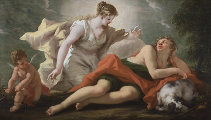 SELENE AND ENDYMION  by Giovanni Antonio Pellegrini, (1675-1741) at Hinton Ampner