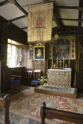 The Chapel at Baddesley Clinton, West Midlands, looking towards the altar