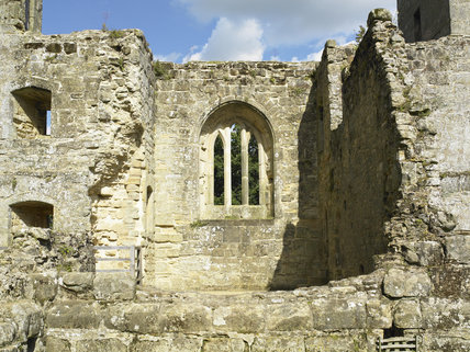 Looking towards the Chapel window at Bodiam Castle, East Sussex, built between 1385 and 1388