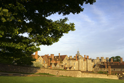 The mixture of styles and periods of Knole, Sevenoaks, Kent, ranging from C15th to C17th