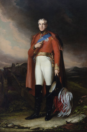 ARTHUR WELLESLEY, 1ST DUKE OF WELLINGTON (1769-1852), 1841, by John Lucas RA (1807-1874), painting in the Staircase Hallat Plas Newydd, Anglesey