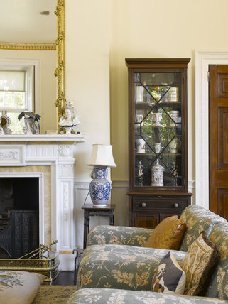 The Drawing Room at Greenway, Devon, which was the holiday home of the crime writer Agatha Christie between 1938 and 1976