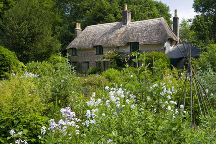 Hardy's Cottage, the birthplace in 1840 of novelist and poet Thomas Hardy , at Higher Brockhampton, near Dorchester, Dorset