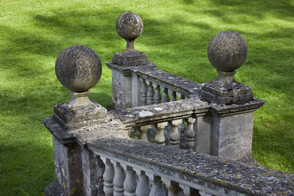 Balustrade of the Palladian Bridge at Prior Park Landscape Garden, Bath