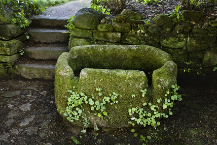 Water trough in the garden at Godolphin House, near Helston, Cornwall