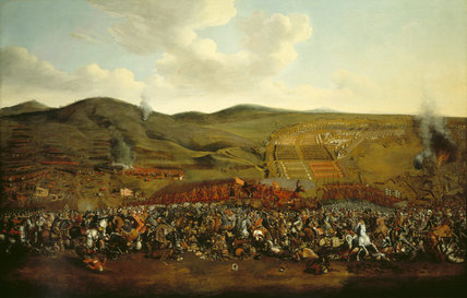 BATTLE SCENE by unknown artist (Poles fighting Turks) mid to late C17th.