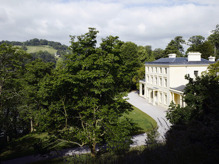 The Georgian house Greenway, at Galmpton, near Brixham, Devon, which was the holiday home of the crime writer Agatha Christie between 1938 and 1976