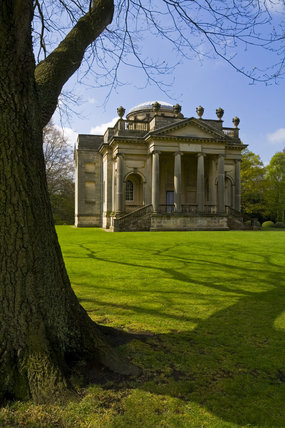 The Palladian Chapel, begun in 1760 to the design of James Paine, at Gibside, Newcastle upon Tyne