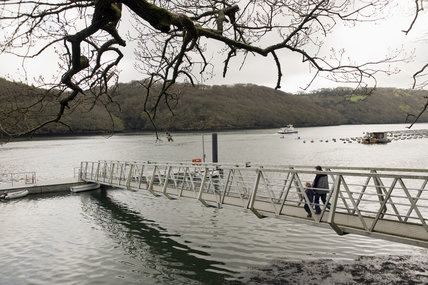 The landing stage for boats and ferries visitingTrelissick Garden, Cornwall