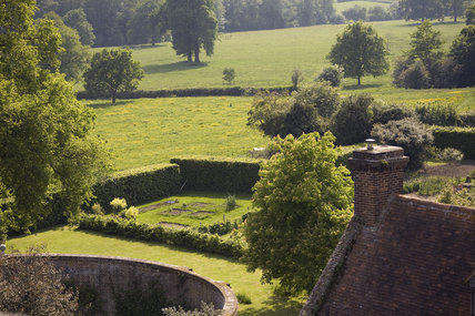 View from the Tower towards the landscape surrounding Sissinghurst Castle, Kent