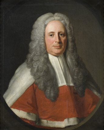 JUDGE WARD, in the manner of Allan Ramsey, a framed oil painting