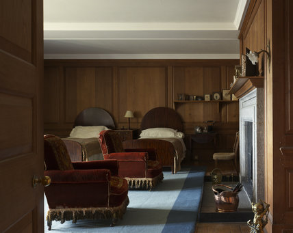 The Bedroom used by Mr and Mrs Julius Drewe at Castle Drogo, Devon