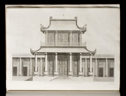 Illustration of a temple from William Chambers
