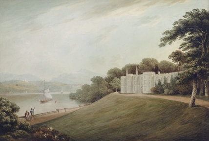 THE EAST FRONT OF PLAS NEWYDD, c.1800, by John