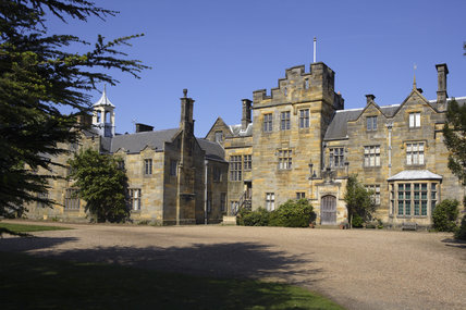 The house designed by Anthony Salvin in 1835 in the Elizabethan style at Scotney Castle, Lamberhurst, Kent
