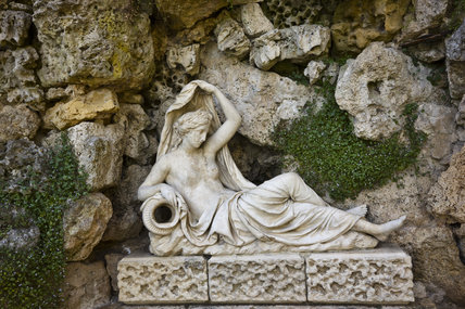 Statue of Sabrina in the Grotto at Croome Park, Croome D'Abitot, Worcestershire
