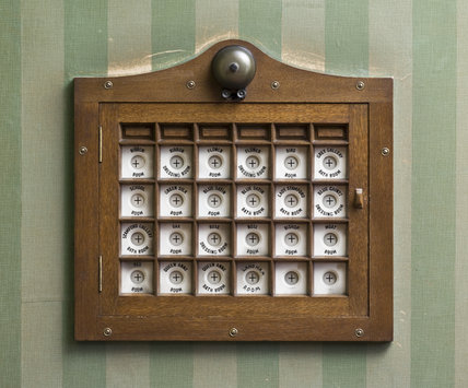 An early electric calling system in the Rose Gallery at Dunham Massey, Cheshire