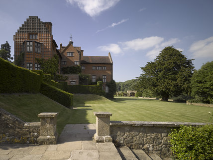 The garden front of Chartwell, the family home of Sir Winston Churchill, at Westerham, Kent