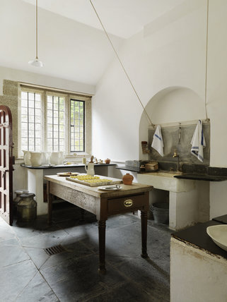 The Dairy Scullery at Lanhydrock, Cornwall