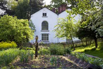 The Apprentice House and garden in May which are part of the Quarry Bank Mill and Styal Estate, Wilmslow, Cheshire
