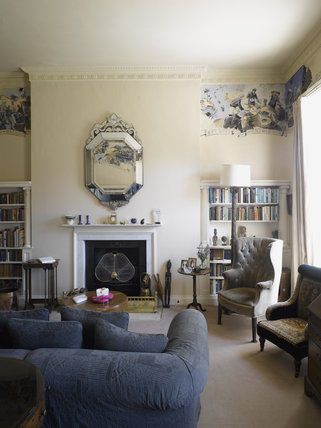 The Library at Greenway, Devon, which was the holiday home of the crime writer Agatha Christie between 1938 and 1976